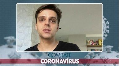 Paciente relata sintomas e como está tratando o coronavírus - O administrador de empresas, André Bellodi, de 34 anos, contraiu o vírus e apresenta o seu depoimento sobre a doença.
