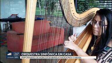 Músicos da Orquestra Sinfônica do Teatro Nacional gravam em casa e emocionam o Brasil - Sem poder se apresentar em publico por causa da pandemia, a Orquestra Sinfônica do Teatro Nacional gravou performance com os músicos em quarentena, cada um em sua em casa. Rapidamente a canção ganhou as redes sociais e teve milhares de compartilhamentos.