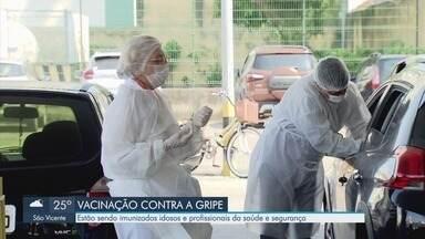 Novo lote de vacinas contra a gripe chega em Santos - Procura foi grande nesta segunda-feira (30).