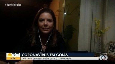 Veja números atualizados do coronavírus em Goiás - É esperado um aumento exponencial no número de casos nesta semana.