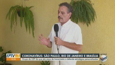 Pesquisadores da USP avaliam concentração da Covid-19 entre Rio, São Paulo e Brasília - Especialistas defendem que sejam adotadas estratégias personalizadas para cada estado.