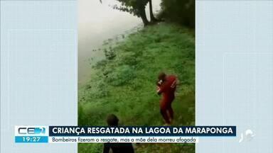 Criança, de 2 anos, é resgatada de dentro da Lagoa da Maraponga - Saiba mais em g1.com.br/ce