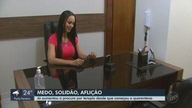 Aumenta a procura por terapia desde o início da quarentena em São Carlos - Consultas estão sem feitas pela internet.