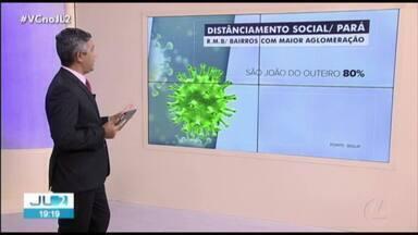Segup divulga dados sobre cumprimento de medidas de isolamento social no Pará - Levantamento leva em consideração dados do Disque-Denúncia e do aplicativo de monitoramento de aglomerações.