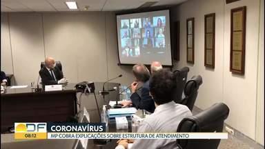 MP relata desrespeito a protocolos de saúde, com pacientes 'misturados' em hospitais - Câmara Legislativa também aprovou projetos relacionados a coronavírus.
