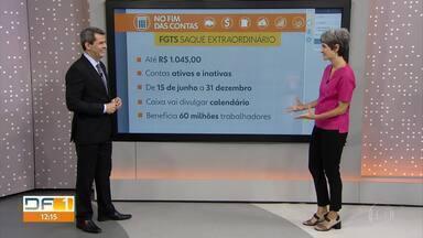 No Fim das Contas informa e tira dúvidas sobre novo saque FGTS e aplicativo da Caixa - A repórter de economia, Mônica Carvalho, explica e tira dúvidas frequentes de telespectadores