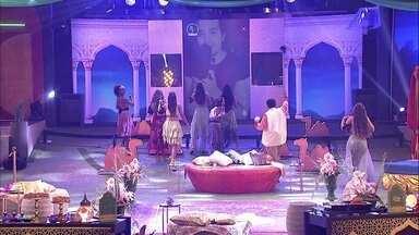 Show de Luan Santana no telão da Festa Mil e Uma Noites empolga brothers do BBB20 - Show de Luan Santana no telão da Festa Mil e Uma Noites empolga brothers do BBB20