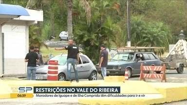 Restrições de acesso ao Vale do Ribeira - Moradores de Iguape e de Ilha Comprida têm dificuldades para ir e vir.