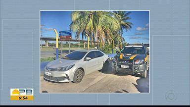 Motorista é preso pela PRF levando carro roubado de João Pessoa para Recife - Veículo foi recuperado.