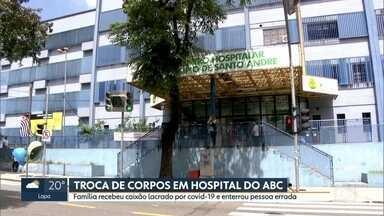 Hospital do ABC troca corpos e família enterra pessoa errada - A família recebeu o caixão lacrado por Covid-19.