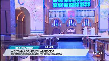 Padre explica como será a Sexta-feira Santa em Aparecida - Santuário mudou celebrações por causa da pandemia.