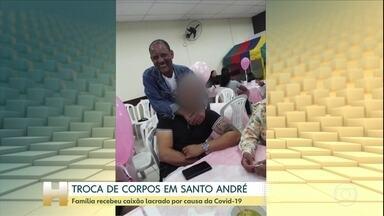 Parentes descobrem que enterraram a pessoa errada na Grande São Paulo - Um caixão lacrado por suspeita de morte por complicações da Covid-19 levou duas famílias a viver um drama. Os parentes acharam que tinham enterrado a dona Amir, de 92 anos, mas na verdade, enterraram o Francisco, de 54 anos.