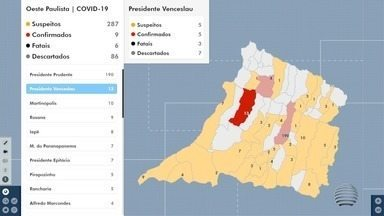 Coronavírus avança na região de Presidente Prudente com novos casos - Em Presidente Prudente, foram duas mortes oficialmente confirmadas.
