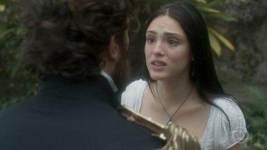 Anna pede ajuda a Thomas para encontrar Piatã - Desesperada, ela conta ao comandante que seu irmão fugiu em uma expedição