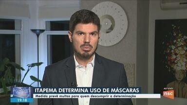 Decreto determina uso de máscaras faciais em Itapema - Decreto determina uso de máscaras faciais em Itapema