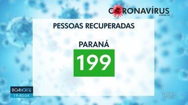 199 pessoas já se recuperaram do coronavírus no Paraná - Números são da secretaria estadual de saúde