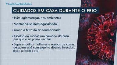 Com aumento do frio e avanço do coronavírus, população deve redobrar cuidados - Assista ao vídeo.