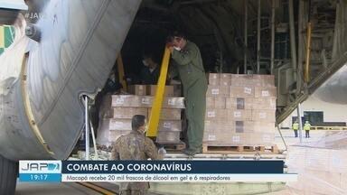Coronavírus: Amapá recebe em avião da FAB 20 mil frascos de álcool em gel e 6 respiradores - Coronavírus: Amapá recebe 20 mil frascos de álcool em gel e 6 respiradores