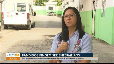 Família é assaltada por casal que se vestiu de profissionais de saúde em Campina Grande - Casa foi invadida.