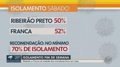 Em Ribeirão Preto e Franca, só metade dos moradores ficou em casa no fim de semana - Dados são do monitoramento feito pelo governo de São Paulo com base nos celulares.