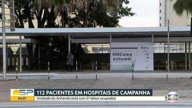 SP tem 112 leitos de hospitais de campanha ocupados - 51 pacientes estão no Anhembi e 61 no Pacaembu.