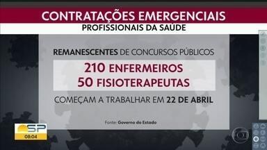 Bom Dia SP - Edição de terça-feira, 14/04/2020 - Subiu para 608 o número de mortes por covid-19 em todo o estado de São Paulo; já são 8895 casos confirmados. Dos pacientes com covid-19 que passaram por tratamento na rede pública desde o primeiro caso no carnaval, 1.524 deixaram os hospitais curados.