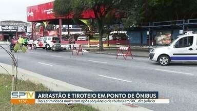 Dois homens são mortos por policial à paisana em São Bernardo do Campo - Segundo a polícia, a dupla tinha feito arrastões em vários pontos de ônibus da região.