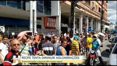 Pernambuco prorroga as medidas de isolamento e proíbe praias e parques - No Recife a tentativa é para diminuir a aglomeração em bancos e supermercados