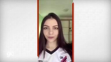 Torcedoras do Athletico viralizam com desafio da troca de camisas - Torcedoras do Athletico viralizam com desafio da troca de camisas