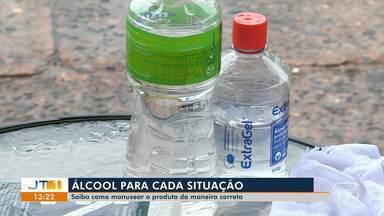 Saiba como manusear o álcool corretamente - Álcool em gel tem sido bastante utilizado para higienizar as mãos, mas pessoas têm esquecido que produto é inflamável; veja dicas na reportagem.