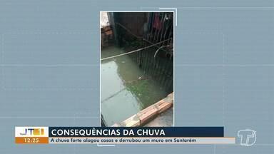 Chuvas causam estragos nas ruas de Santarém nesta terça-feira, 14 - Durante as fortes chuvas, um homem desapareceu no rio Surubiú, em Alenquer.