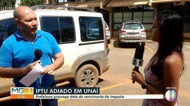Prefeitura de Unaí adia a data de vencimento do IPTU - Prefeito da cidade decide prorrogar a data de vencimento do IPTU.