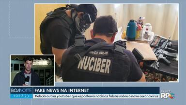 Polícia prende homem suspeito de espalhar notícias falsas sobre coronavírus na internet - De acordo com as investigações, o homem chegou a divulgar receitas caseiras usando cal virgem, produto que segundo ele, podia ajudar no combate ao coronavírus.