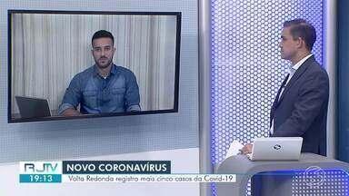 RJ2 atualiza casos de coronavírus no Sul do Rio - Volta Redonda confirmou mais cinco casos e Três Rios mais dois.