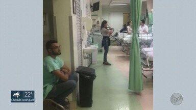Músicos fazem homenagens aos pacientes curados da Covid-19 em Ribeirão Preto - Artistas tocam instrumentos e emocionam familiares e pacientes na despedida do hospital.