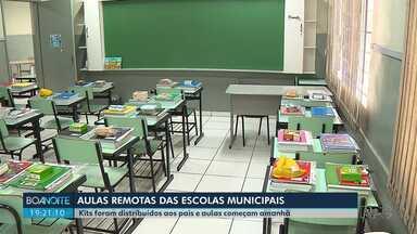 Alunos de escolas municipais de Londrina começam a ter aulas remotas nesta quarta (15) - Prefeitura vai entregar kits para os pais ou responsáveis que darão as aulas em casa