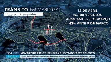 Movimento aumenta nas ruas de Maringá - Dados da Semob dão a dimensão do aumento.