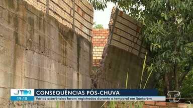 Forte chuva desta terça-feira deixa pontos de Santarém em más condições; veja - Ruas dos bairros periféricos ficaram intrafegáveis; moradores relatam dificuldades.