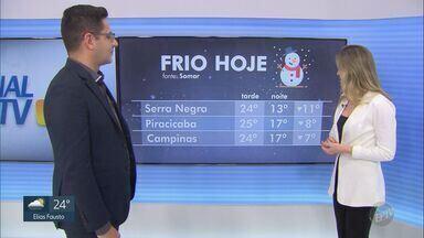 Temperaturas despencam na região de Campinas nesta quarta-feira - Máxima em Campinas chega a 24º C. Veja previsão completa.