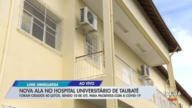 Taubaté inaugura nova ala no hospital universitário para pacientes com Covid-19 - Foram criados 40 novos leitos.
