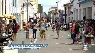 Número de mortes pela Covid-19 triplica no Maranhão - Estado é uma das preocupações do Ministério da Saúde na região nordeste.