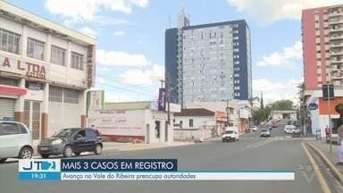 Avanço do coronavírus no Vale do Ribeira preocupa autoridades - Mais três casos foram confirmados em Registro, cidade da região.