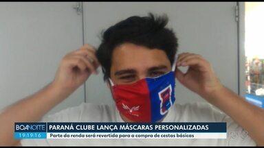 Paraná Clube produz máscaras para ação solidária - Parte do dinheiro das máscaras será usado para comprar alimentos para moradores da Vila Torres