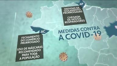Estados e prefeituras anunciam novas medidas de combate ao Coronavírus - Na cidade do Rio de Janeiro, o uso de máscaras será obrigatório a partir de 5ª feira. Governos do AP, AC, PB e a prefeitura de Salvador estenderam as medidas de isolamento por 15 dias.