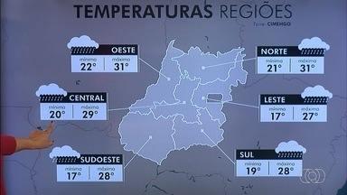 Veja a previsão do tempo em Goiânia - Segunda-feira começa com muita neblina e baixas temperaturas na capital.