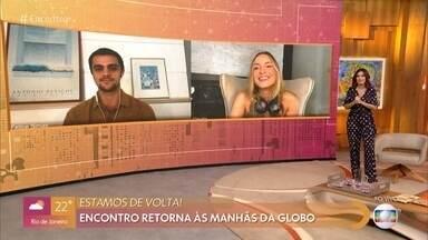O 'Encontro' recebe Felipe Simas e Claudia Leite na abertura do 'Encontro' - Fátima Bernardes abre o programa apresentando o novo formato