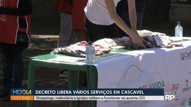 Decreto libera vários serviços em Cascavel - Shoppings, rodoviária e igrejas voltam a funcionar na quarta-feira (22)