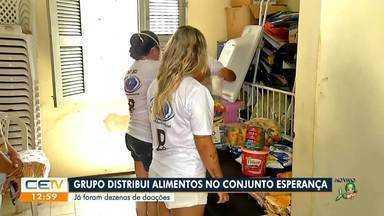 Grupo distribui alimentos no Conjunto Esperança - Saiba mais em g1.com.br/ce
