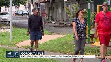 Casos de coronavírus no Guará crescem 330% - Movimento nas ruas da cidade é grande. Já são 43 casos e 3 mortes.
