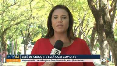 Bebê de Cianorte está com Covid-19 - O menino de 1 ano chegou a ficar internado, mas já teve alta.